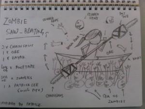 """Feedback 1: Learn to draw better. Feedback 2: Learn to spell """"oar"""". Original art by Jeremy"""