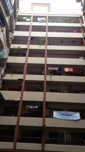 Nine storey building - view from the inside