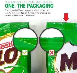 how to spot fake milo