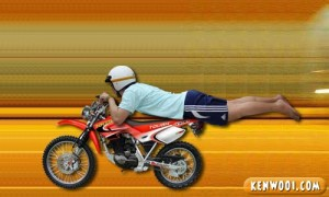 mat rempit pose superman Image from kenwooi.com.