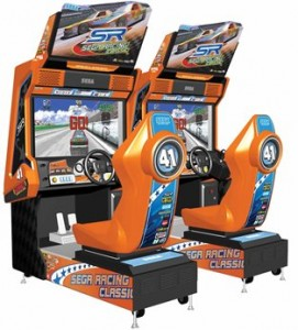 sega arcade car racing. Image from moneymachines.com.