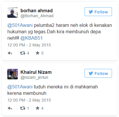 twitter comments on myvi race. Screenshot from Astro Awani
