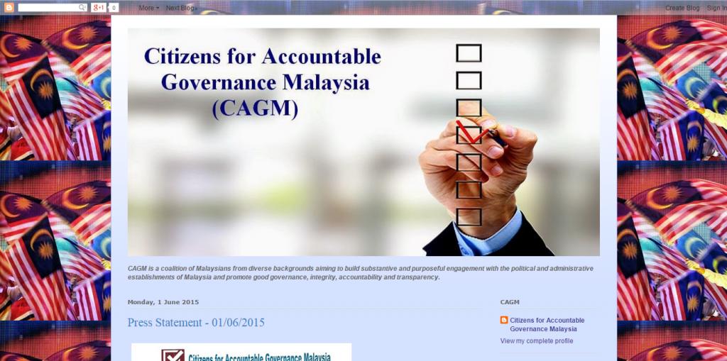 Screenshot of CAGM's blog