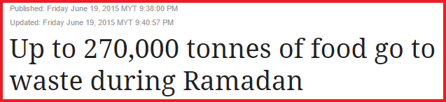 The Star ramadan food waste 270,000 tonnes