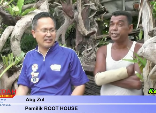 abang zul owner root house langkawi. Screenshot from the video