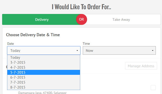 That's right! you can order a WEEK in advance at dominos.com.my