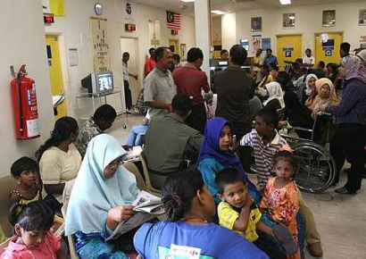 An overcrowded hospital in Seberang Jaya. Photo from thestar.com.my