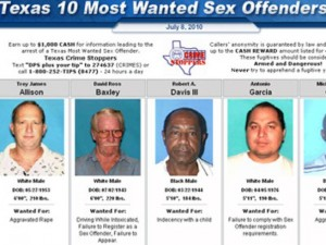 Taken from http://www.nbcdfw.com/news/local/Texas-Targets-Top-10-Sex-Offenders-98029029.html