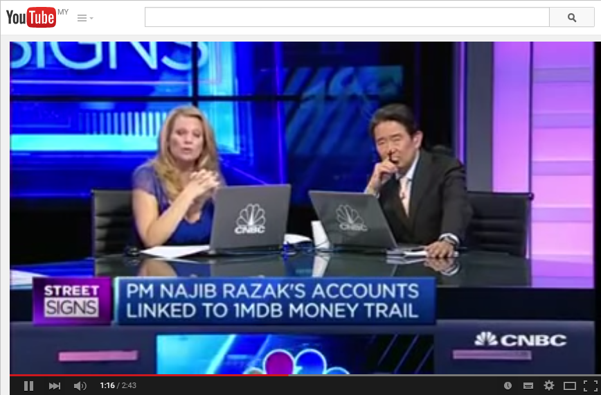 Screenshot of CNBC's interview with Ken Brown on YouTube