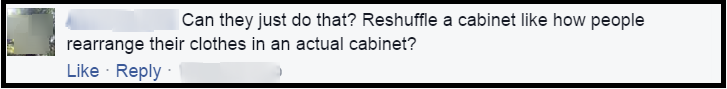 cabinet question