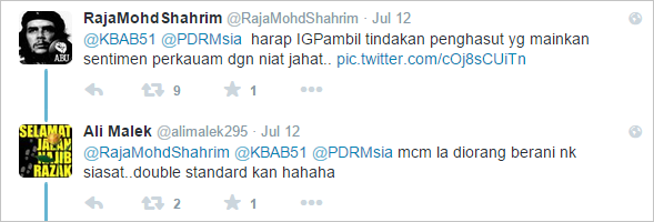 tweeters reply to IGP lowyat tweet. Screenshot from Twitter