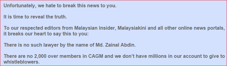 unfortunately we hate to break this news to you CAGM