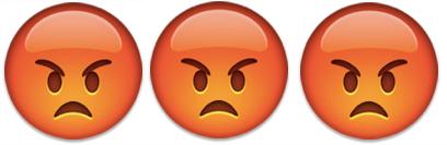 3 angry emoji