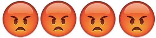 4 angry emoji