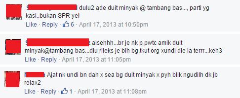 facebook comments duit minyak