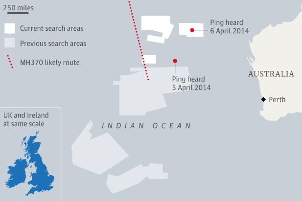 mh370 black box ping locations
