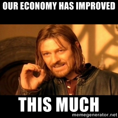 our economy has improved