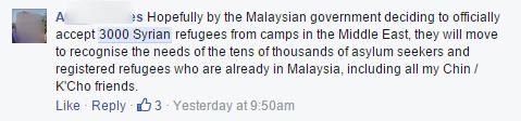 Facebook comment 3000 Syrians c