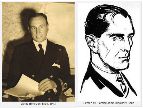 Ian Fleming sketch of Bond vs Denis Emerson Elliot