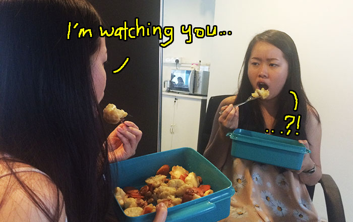 Image result for eat in front of mirror
