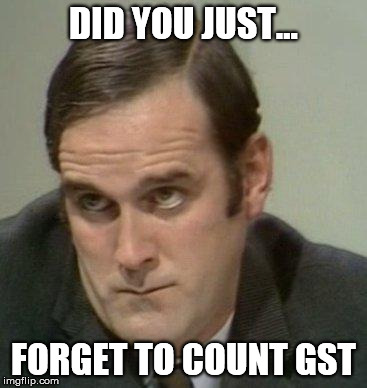 (Your share of the bill) x 1.16 (if it's 10 + 6% tax) = what you should pay ugaiz. Unedited image from reactionface.info