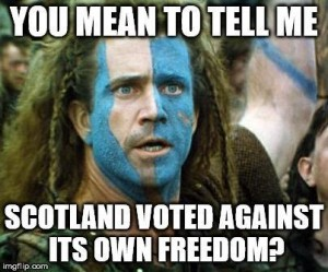 William Wallace rolling in his grave... Image from seen.co