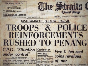 Straits Echo frontpage, November 25, 1967.