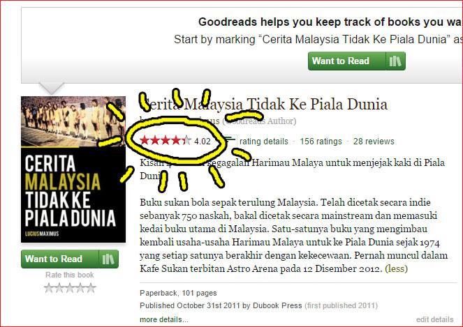 cerita malaysia tidak ke piala dunia review on Goodreads