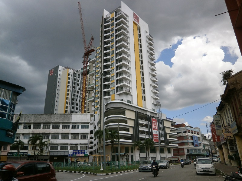 The brand new Majestic Tower in Ipoh. Pic from The Malaysian Insider.