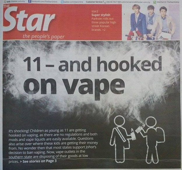 11-year old vape front page star