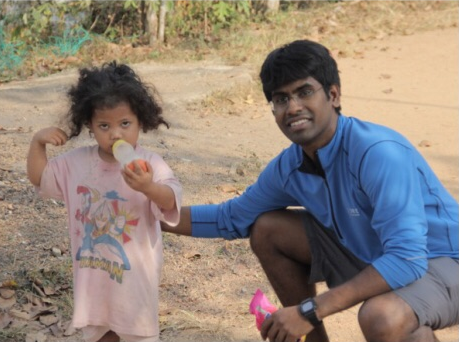 Ganesh and Mira from village KL