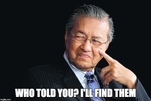 Mahathir questioning
