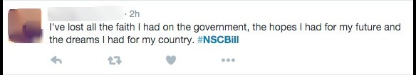 NSCBill hashtag on Twitter