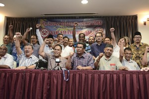 Sidang media GKCM . Gambar asal dari The Malaysian Insider