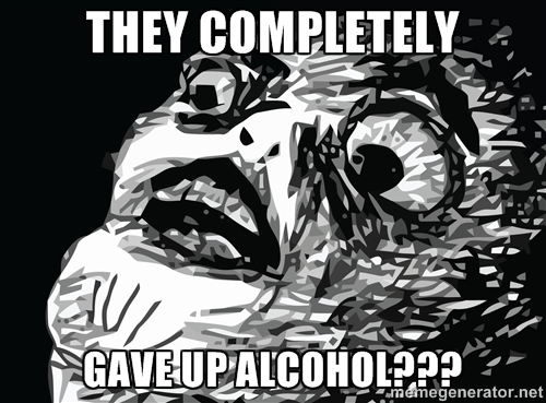 gave up alcohol
