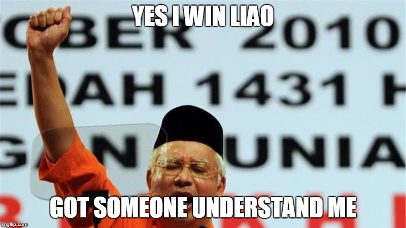 Najib's reaction when someone understands the need to raise fares. Unedited pic from AlJazeera