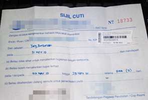 some clinics sell fake MC. Image from Astro Awani