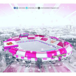 Concept image for the proposed 'pinkover' of the Sultan Muhammad IV Stadium in Kota Bharu. Image from: Datuk Seri Vida's Instagram page