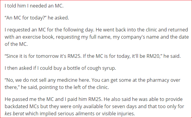 Screenshot of The Malay Mail Online article fake MC