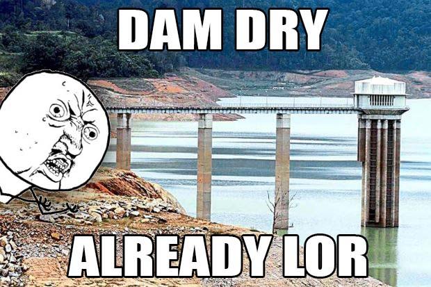 dam dry