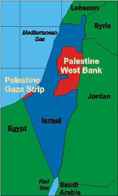 israel-palestine borders