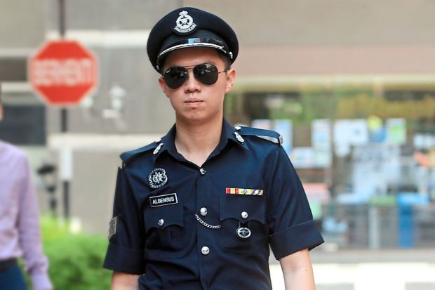 model posing as a cop RMP police Image from The Star