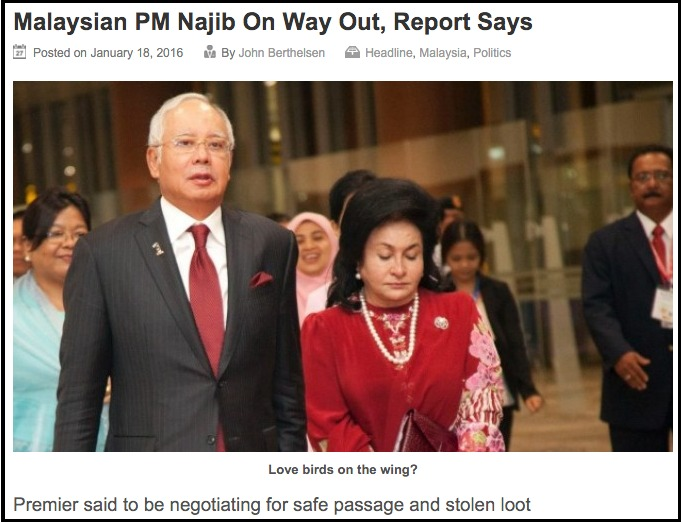 Malaysian PM Najib On Way Out Report Says Asia Sentinel Asia Sentinel