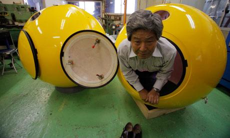 Noah's Ark tsunami shelter survival pod. Image from The Guardian