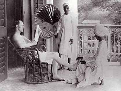 englishman indian servant