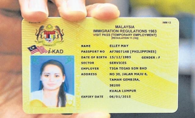 Kết quả hình ảnh cho kad malaysia foreign worker