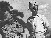 Lim Bo Seng (right), pictured with fellow Force 136 member Tan Chong Tee. Image from: Wikipedia