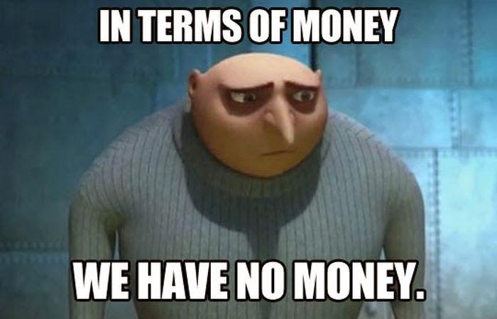 money sad