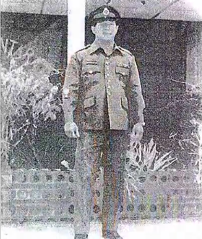 Ng Chow Seng army uniform Image from faisalbart's video on YouTube