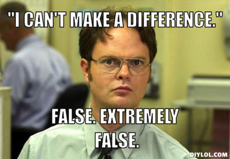 cant make a difference false